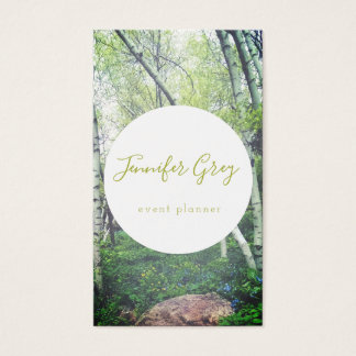 Enchanted Birch Woods Business Cards
