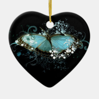 Enchanted Blue Ceramic Ornament