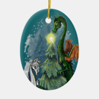 Enchanted Christmas Tree Ceramic Ornament