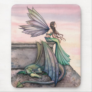 Enchanted Dusk Fairy Dragon Mousepad