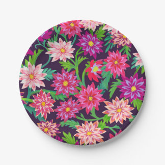 Enchanted Floral Garden Pink Paper Plates