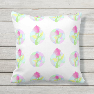 Enchanted flowers. outdoor cushion