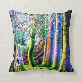 Enchanted Forest Abstract Art  American MoJo Pillo Cushion