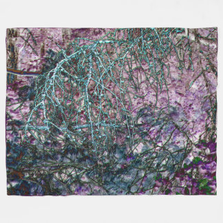 Enchanted Forest at Dusk Fleece Blanket