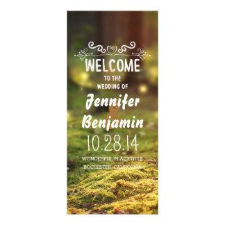 enchanted forest fireflies wedding programs rack card