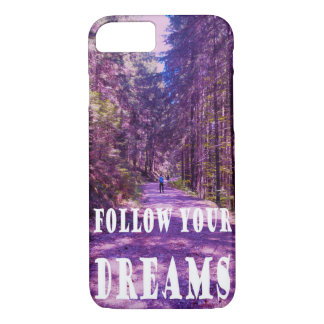 "Enchanted Forest ""FOLLOW YOUR DREAMS"" quote case"