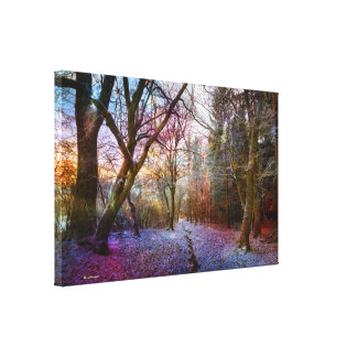 Enchanted Forest -Nature Winter Landscape Canvas Print