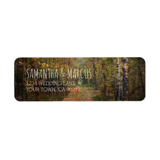 Enchanted Forest Path Wedding Return Address Label