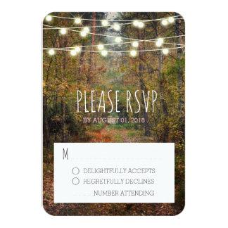 Enchanted Forest Path Wedding RSVP Response Card