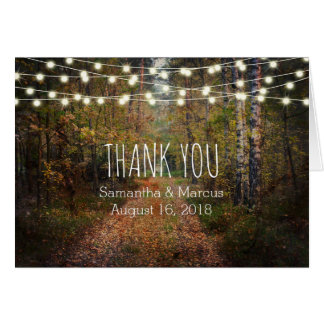 Enchanted Forest Path Wedding Thank You Card