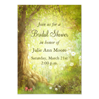 Enchanted Forest Scene Invite