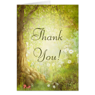 Enchanted Forest Scene Thank You Card