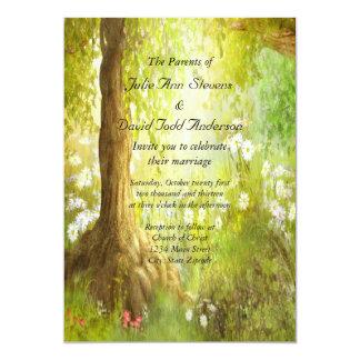 Enchanted Forest Scene Wedding Card