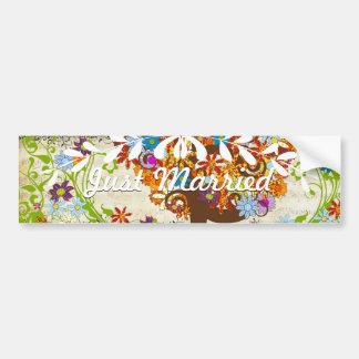 Enchanted Forest Side Branch Wedding Bumper Sticker