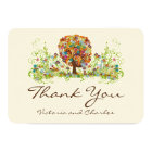 Enchanted Forest Side Branch Wedding Thank You Card