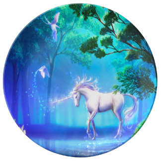 Enchanted Forest Unicorn Plate