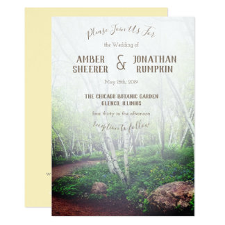 Enchanted Forest Wedding Invitation