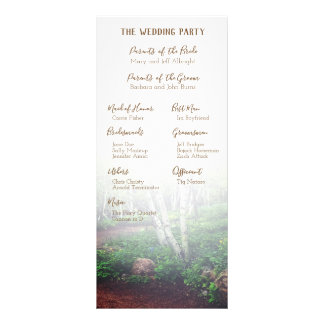 Enchanted Forest Wedding Program Rack Card