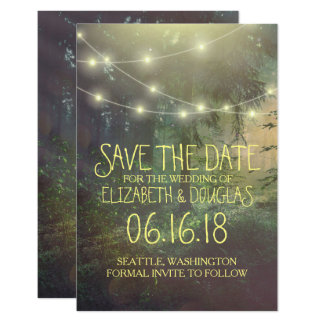 Enchanted Forest Wedding Save the Date Card