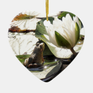 Enchanted Frog Ceramic Heart Decoration