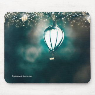 Enchanted Garden Summer String Lights Whimsical Mouse Pad