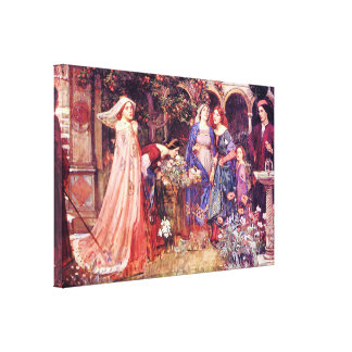 Enchanted Garden William Waterhouse Fine Art Stretched Canvas Prints
