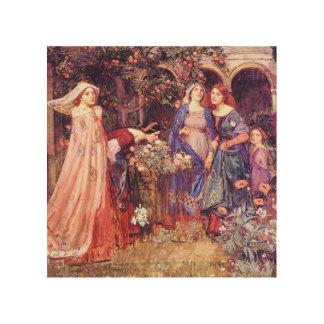 Enchanted Garden William Waterhouse Fine Art Wood Canvas