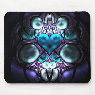 Enchanted Heart Fractal Mousepads