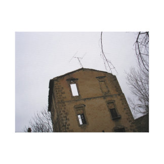 enchanted house, mytery, mystery, haunted house canvas print