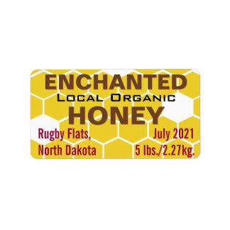 Enchanted Local Organic Honey Jar Address Label