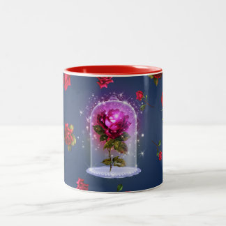 Enchanted Magical Red Rose Beauty & The Beast Two-Tone Coffee Mug