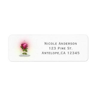 Enchanted Magical Red Rose Wedding Party Custom Return Address Label