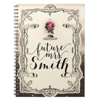 Enchanted Magical Storybook Red Rose Future Mrs. Notebook