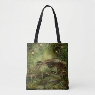 Enchanted Mushrooms All-Over-Print Tote Bag