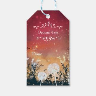 Enchanted Red Evening Sky Stars & Foliage Wedding