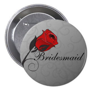 Enchanted Roses Bridemaids Button