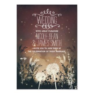 Enchanted Rustic Night Sky Stars & Foliage Wedding 13 Cm X 18 Cm Invitation Card