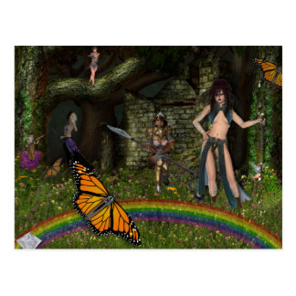 Enchanted Scene Fantasy Postcard