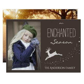 Enchanted Season Holiday Photo 13 Cm X 18 Cm Invitation Card