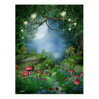 Enchanted Summer Night Postcard