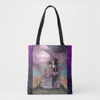 Enchanted Twilight Witch Fantasy Art Tote Bag