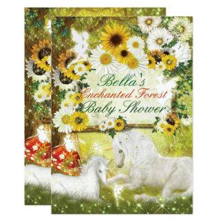 Enchanted Unicorn Baby Shower Invitations
