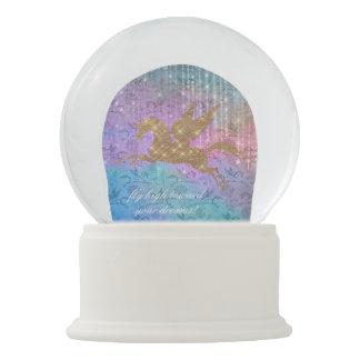 Enchanted Unicorn Sparkle Lights Snow Globe