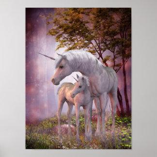 Enchanted Unicorns Poster