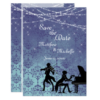 Enchanted Vintage Classical Music Save the Date Card