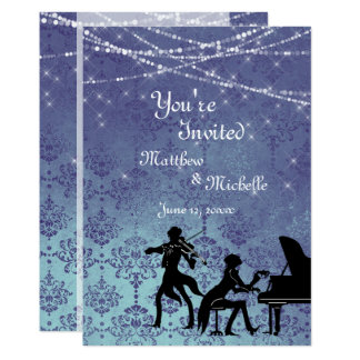 Enchanted Vintage Classical Music Wedding Invite