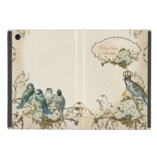 Enchanted Woodland Birds Dove Swirl Personalized Cover For iPad Mini