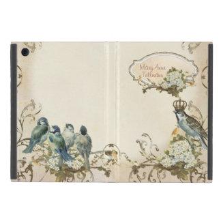 Enchanted Woodland Birds Dove Swirl Personalized iPad Mini Cases