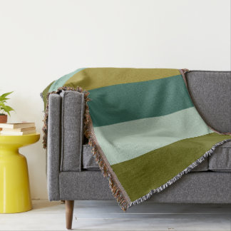 Enchanted Woodland Palette Stripes Personalized Throw Blanket