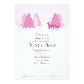 "ENCHANTED WOODLAND quinceanera invitation 5"" X 7"" Invitation Card"